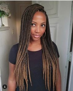 60 Totally Chic And Colorful Box Braids Hairstyles To Wear! - Part 2 - 60 Totally Chic And Colorful Box Braids Hairstyles To Wear! Box Braids Hairstyles For Black Women, Crochet Braids Hairstyles, Braids For Black Women, Black Braids, Winter Hairstyles, Girl Hairstyles, Medium Hairstyles, Hairstyle Braid, Bun Updo