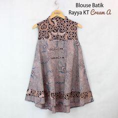 Nice model to try Batik Fashion, Hijab Fashion, Fashion Dresses, Blouse Batik, Batik Dress, Batik Kebaya, Dress Anak, Mode Top, I Dress