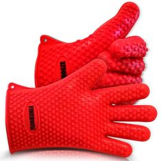 SILICON BBQ AND OVEN PROTECTION GLOVES HEAT RESISTANT SILICONE BARBECUE GLOVES – ENDORSED BY FIREMEN & FDA APPROVED – SAFETY 5-FINGER SILICONE OVEN MITTS FOR COOKING & GRILLING – USE IN THE KITCHEN OR AT THE BBQ – LIFETIME GUARANTEE SUPERIOR BURN PROTECTION Our barbecue gloves are firemen endorsed and protective up to 425°F!