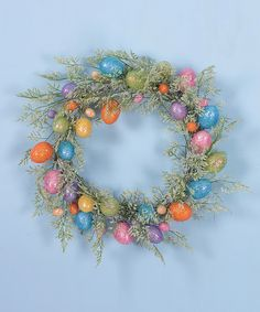 This Sparkle & Fern Egg Wreath by Transpac Imports is perfect! #zulilyfinds