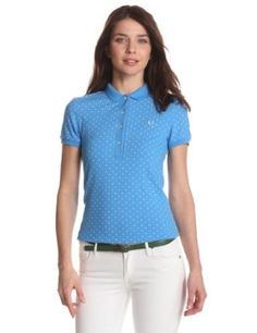 Fred Perry Women's Printed Polka Dot Shirt, Vibrant Blue, 6 Fred Perry. $110.00