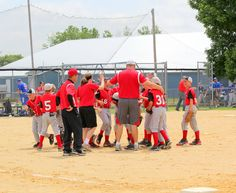 Team huddle, WIN 6-7-15 games John Hellie Tournament Champs  2015 tournament 13 u AAA Qualified for state won 11am & their 2pm game #jlphotographyc  #pierzpioneers (c) JL Photography c #pierz