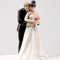 2015 Brand New Wedding Favors White Black Bride & Groom Wedding Cake Topper Cake Toppers in Wedding,Yes to the Rose Cake Topper 5''/12CM