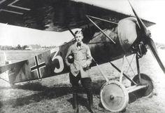 Hans Goerth Jasta 3, with his Fokker E.V., WWI