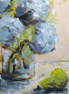 """Hydrangea and Pear"" by Susan E Jones"