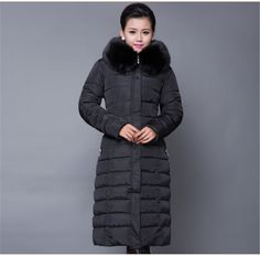 62.65$  Buy here - http://aliw5m.worldwells.pw/go.php?t=32722807657 - X-long cotton padded jacket female faux fur hooded thick parka,warm winter jacket women solid color wadded coat outerwear TT763 62.65$