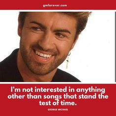 "This quote is from a George Michael interview published by Q Magazine in December It was written by John Aizlewood and billed as ""The honest George Michael interview you'll ever read. Rock Music Quotes, Song Quotes, Pop Rock Music, Breaking Benjamin, George Michael Wham, Sara Bareilles, New Beginning Quotes, Friendship Day Quotes, Pop Songs"