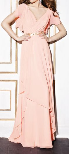 Salmon maxi...I love the sleeves and of course the maxi length. I'm a sucker for a beautiful dress