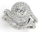 BrillianceDeco.Com Unique Forever One Moissanite Halo Engagement Bridal Ring Set 2.75 Ctw.