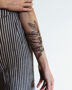 Coffee tattoo on forearm//barista tattoo//coffee arabica//coffee plant art