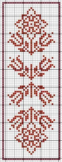 Simple Redwork (or Blue) Cross stitch pattern for Borders, Bookmark or as Motifs ! Cross Stitch Books, Cross Stitch Bookmarks, Cross Stitch Borders, Cross Stitch Samplers, Cross Stitch Charts, Cross Stitch Designs, Cross Stitching, Cross Stitch Embroidery, Embroidery Patterns