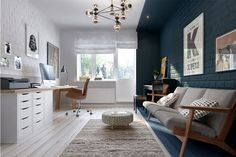 Home office + spare room Home, Home Office Design, Home Office Decor, Home And Living, Interior, Open Floor House Plans, House Interior, Office Interiors, Workspace Inspiration