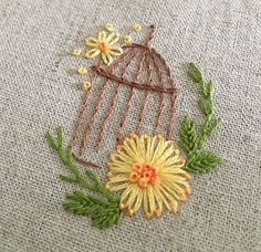 Embroidery Hoop Crafts, Hand Embroidery Videos, Embroidery Sampler, Baby Embroidery, Creative Embroidery, Embroidery Patterns Free, Ribbon Embroidery, Machine Embroidery Designs, Embroidery Stitches
