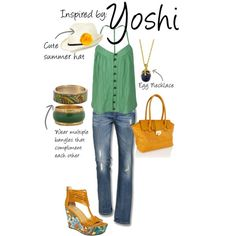 Super cute! I would totally rock this and make little Yoshi sounds, lol