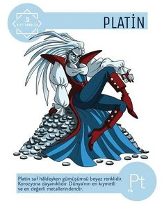 112 Cartoon Elements Make Learning The Periodic Table Fun - Platinum. Element Chemistry, Chemistry Notes, Teaching Chemistry, Science Chemistry, Science Geek, Science Facts, Organic Chemistry, Physical Science, Science Experiments