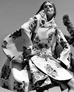 """Carretera Secundaria"". Malgosia Bela by Greg Kadel for Vogue Spain August 2012"