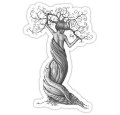 'intertwined' T-Shirt by vian Roots Drawing, Nature Drawing, Nature Tattoos, Body Art Tattoos, Tatoos, Twisted Tree, Sketches Of People, Celtic Tree Of Life, Tree Woman