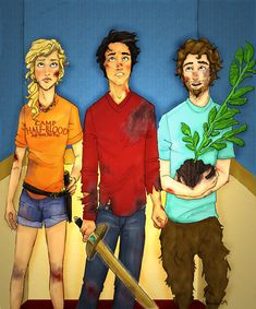 Original lineart by Coloring by me Percy Jackson FTW! Haha This is the scene in The Last Olympian where Annabeth, Percy, and Grover are going up the ele. Percy Jackson Fan Art, Percy Jackson Fandom, Percy Jackson Books, Solangelo, Percabeth, Magnus Chase, Percy Y Annabeth, The Last Olympian, Oncle Rick