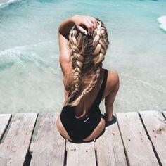 Beach Braids, Beach Hair, Pretty Hairstyles, Braided Hairstyles, Hair Inspo, Hair Inspiration, How To Make Braids, Loose French Braids, Gorgeous Hair