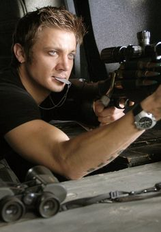 Jeremy Renner-- Where's the bow and arrows??