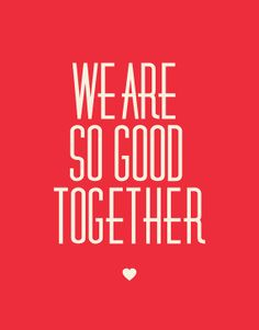 "Typography Print Red Home Decor ""We Are So Good Together"" Minimalist Thankful Quotes Happiness Gratitude Love Wall Art Summer Trends"
