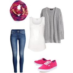 Winter pink vans outfit