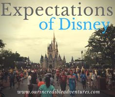 Our Incredible Adventures: Expectations of Disney