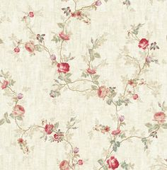 Small Rose Trail from The French Linen Collection by Pelican Prints Pattern Art, Pattern Design, Print Patterns, Vintage Roses, Vintage Paper, Old Wallpaper, Wallpaper Murals, Small Rose, Textiles