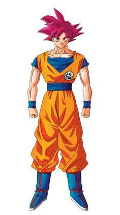 Goku Super Saiyajin God - DRAGÓN BALL SUPER