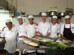 Staff cucina 2013. Fantastici Dentici appena pescati!
