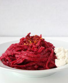Beet Pasta, Roasted Garlic and Beet pasta, Beets, easy beet recipe ...