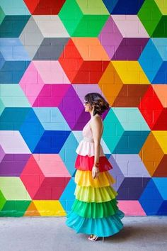 Colorful walls in Dallas. Helpful resource for our Texas neighbors! :) See our Dallas Mural Guide HERE. Murals Street Art, World Of Color, Color Of Life, Wal Art, Art Du Monde, Arte Fashion, Diamond Wall, Rainbow Fashion, Mural Wall Art