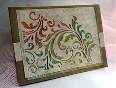 "By Marjory. Die from Sizzix/Tim Holtz ""Mixed Media #2"" set."