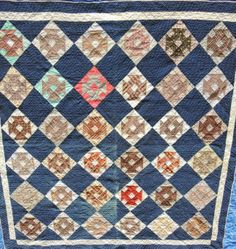 Antique Churn Dash Quilt : Lot 65, Bell Auctioneer, Live Auctioneers