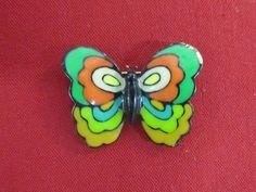 Vintage Signed EISENBERG  Enameled Butterfly Brooch Pin #Eisenberg