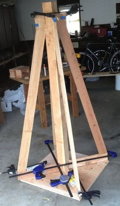 Our wood has been cut and we have secured our main base structure together with screws and wood glue
