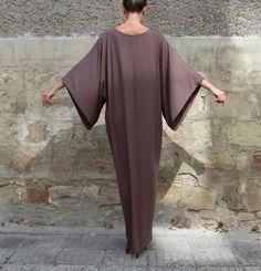 Brown Maxi Dress, Caftan, Abaya, Plus size dress, Plus size clothing, Elegant dress, Plus size maxi dress, Kaftan, Party dress, Long dress