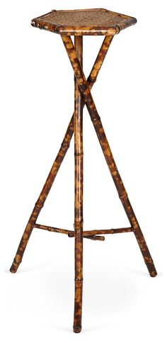 One Kings Lane - Van den Akker - Antique Bamboo Pedestal