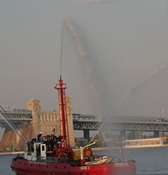 Fireboat doing it's thing.