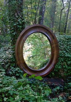 Oval Mirror Custom Mirrors Solid Walnut Wood Framed