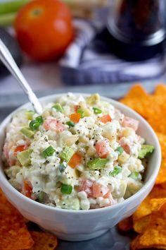 Cheese Ball Recipes, Dip Recipes, Snack Recipes, Dorito Dip, Doritos, Cheese Appetizers, Appetizer Recipes, Cottage Cheese Dips, Nacho Dip