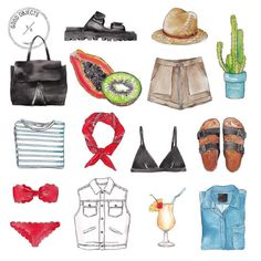 Good objects - Hello summer #goodobjects #watercolor #illustration