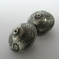 Janice Art Jewelry | Hand made Sterling Silver Beads--Large Paisley. $ 68.00, via Etsy.