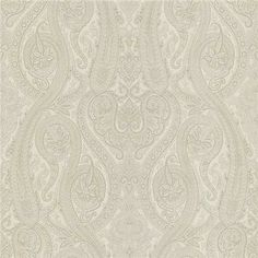 58-54447 Cream Paisley - Forsythe - Kenneth James Wallpaper