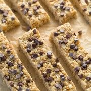 Microwave Chewy Chocolate Chip Granola Bars | Cooking Classy