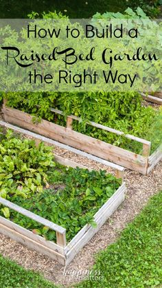 How to Build a Raised Bed Garden the Right Way via @jen_dunham #gardening #spring