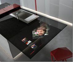 futuristic, scifi, Prisma Kitchen, future, future kitchen, future home, 2012 Euricucina, sci-fi, Toncelli, Hi-Tech, Food, futuristic interior, Cooking, fantastic, modern kitchen, transparent