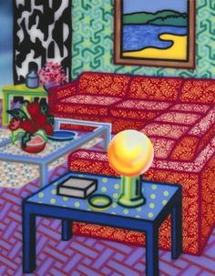 Howard Arkley at The Ian Potter Centre Magnum Opus, Mondrian, David Hockney Artwork, Howard Arkley, Ian Potter, Musica Punk, Thing 1, Australian Artists, Limited Edition Prints