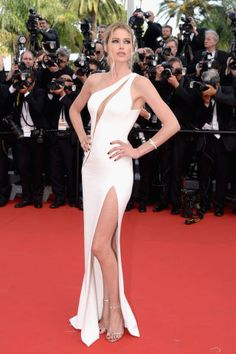 See the best red carpet fashion spotted at Cannes Film Festival: Doutzen Kroes in Atelier Versace