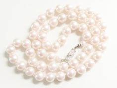 Vintage Pink Pearl Beaded Necklace by GrandVintageFinery on Etsy